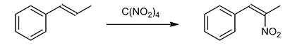 Nitration of alkenes with tetranitromethane