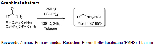 Reduction of primary amides