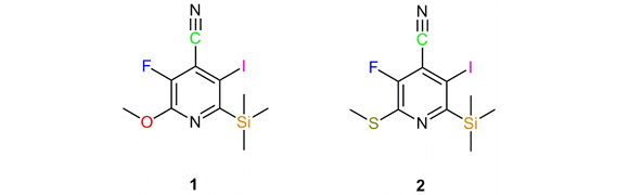 Pyridines substituted with five different elements