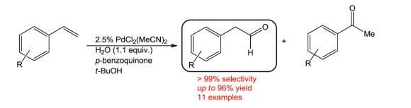 Anti-Markovnikov Wacker oxidation