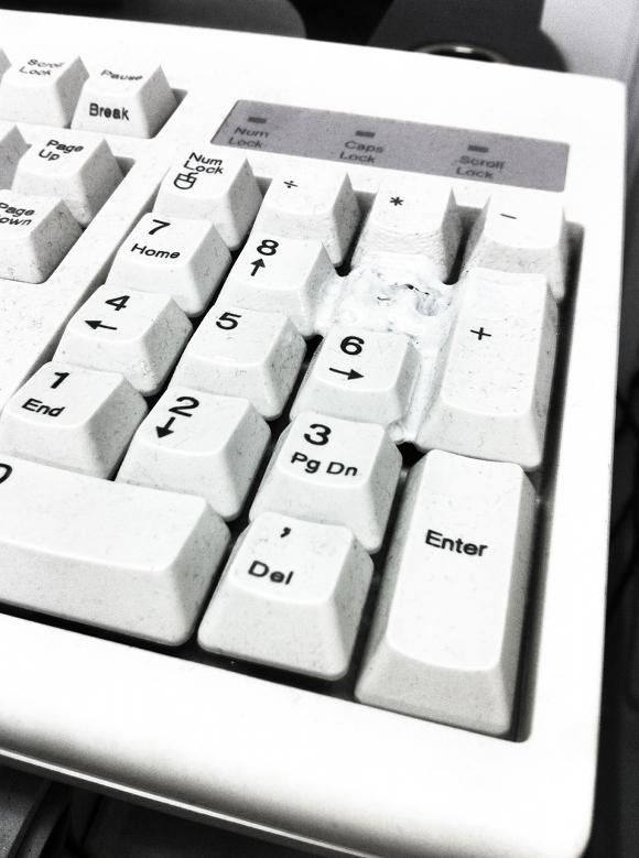 Melting keyboard