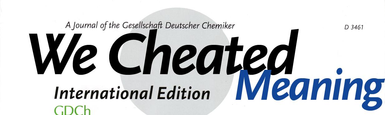 Angewandte Chemie anagram