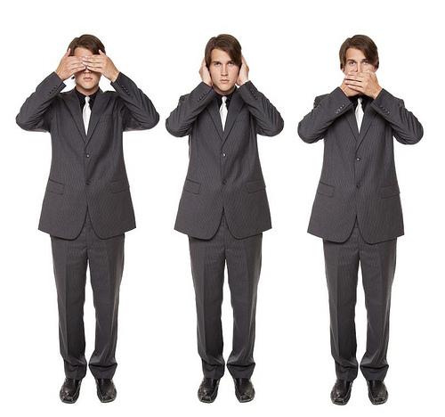 businessman - no evil poses