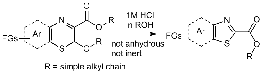 Acid-catalyzed ring-contraction to thiazole